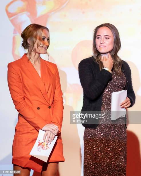 Nele Schenker and Gina Lewandowski look on during the Lotte Price 2019 on November 8 2019 in Wuerzburg Germany