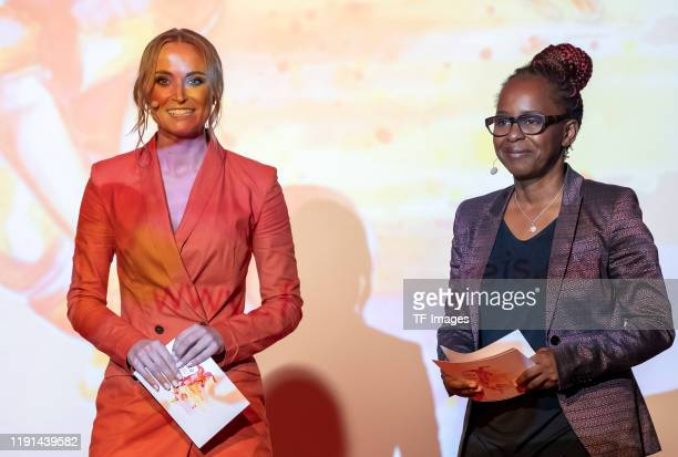 Nele Schenker and Shary Reeves look on during the Lotte Price 2019 on November 8 2019 in Wuerzburg Germany