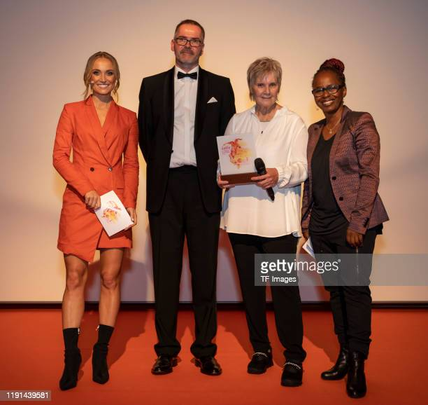 Nele Schenker Prof Dr Heinz Reinders Tina Theune and Shary Reeves look on during the Lotte Price 2019 on November 8 2019 in Wuerzburg Germany
