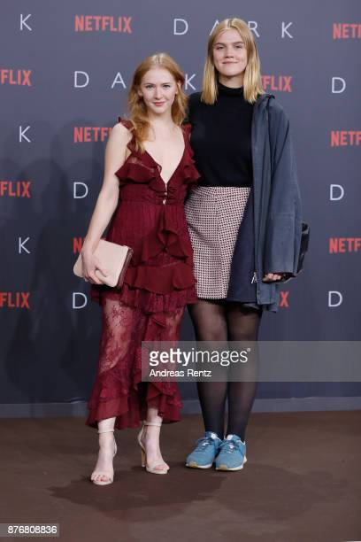 Nele Trebs and Gina Alice Stiebitz attend the premiere of the first German Netflix series 'Dark' at Zoo Palast on November 20 2017 in Berlin Germany