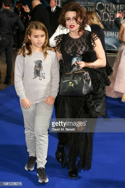 Nell Burton and Helena Bonham Carter attend the UK Premiere of Fantastic Beasts The Crimes Of Grindelwald at Cineworld Leicester Square on November...