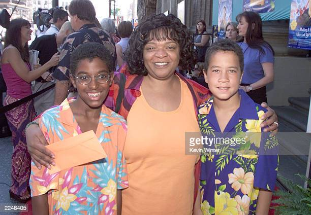 Nell Carter with sons Joshua and Daniel at the premiere of Walt Disney Pictures' 'The Little Mermaid II Return to the Sea' staring the voices of Jodi...