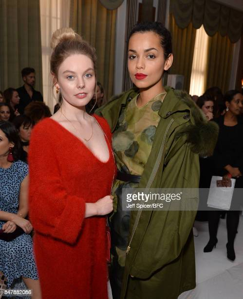 Nell Hudson and Georgina Campbell attend the Jasper Conran show during London Fashion Week September 2017 on September 16 2017 in London England