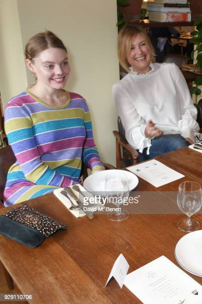 Nell Hudson and Mika Simmons attend an exclusive breakfast to celebrate International Women's Day and support the Gynaecological Cancer Fund's Lady...