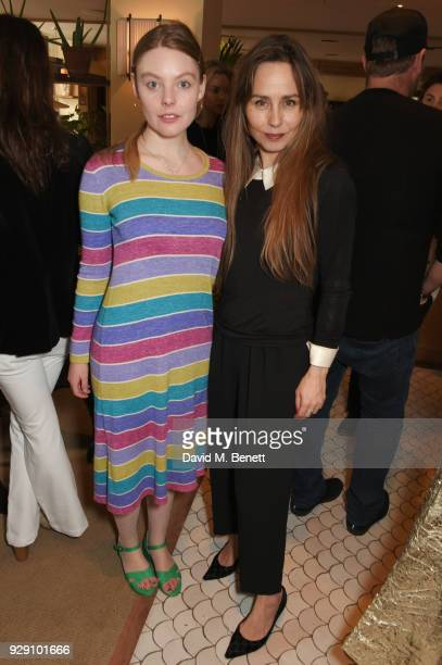Nell Hudson and Tara Fitzgerald attend an exclusive breakfast to celebrate International Women's Day and support the Gynaecological Cancer Fund's...