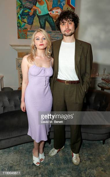 Nell Hudson and Will Taylor attend a private dinner hosted by Louis XIII with cellar master Baptiste Loiseau at The Arts Club on March 26, 2019 in...