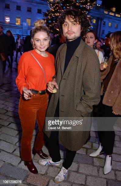 Nell Hudson and Will Taylor attend the opening party of Skate at Somerset House with Fortnum Mason on November 13 2018 in London England London's...