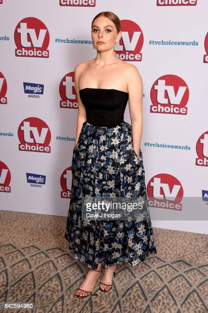 Nell Hudson arrives at the TV Choice Awards at The Dorchester on September 4 2017 in London England