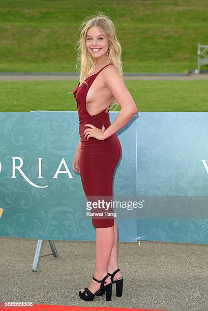 Nell Hudson arrives for the premiere screening of ITV's 'Victoria' at The Orangery on August 11 2016 in London England