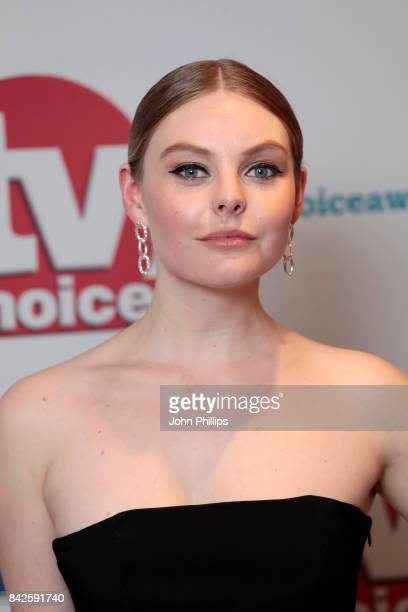 Nell Hudson arrives for the TV Choice Awards at The Dorchester on September 4 2017 in London England