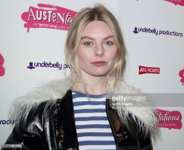 Nell Hudson at the Austentatious Press Night at the Fortune Theatre Russell Street Covent Garden