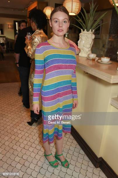 Nell Hudson attends an exclusive breakfast to celebrate International Women's Day and support the Gynaecological Cancer Fund's Lady Garden campaign...