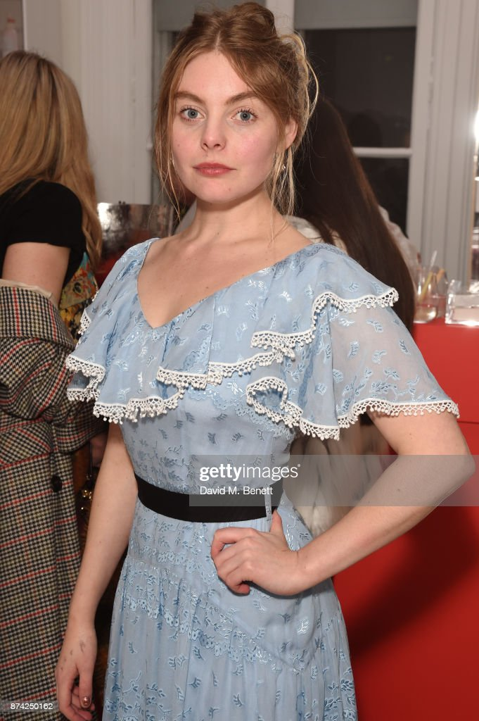 Nell Hudson attends the Glossier Studio pop-up launch party at 32 Portland Place on November 14, 2017 in London, England.