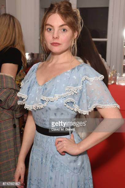Nell Hudson attends the Glossier Studio popup launch party at 32 Portland Place on November 14 2017 in London England
