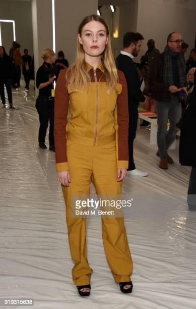 Nell Hudson attends the Jasper Conran show during London Fashion Week February 2018 at Claridge's Hotel on February 17 2018 in London England