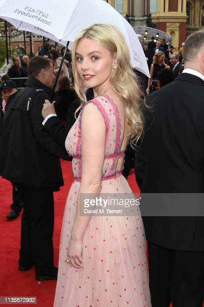 Nell Hudson attends The Olivier Awards 2019 with Mastercard at The Royal Albert Hall on April 7 2019 in London England