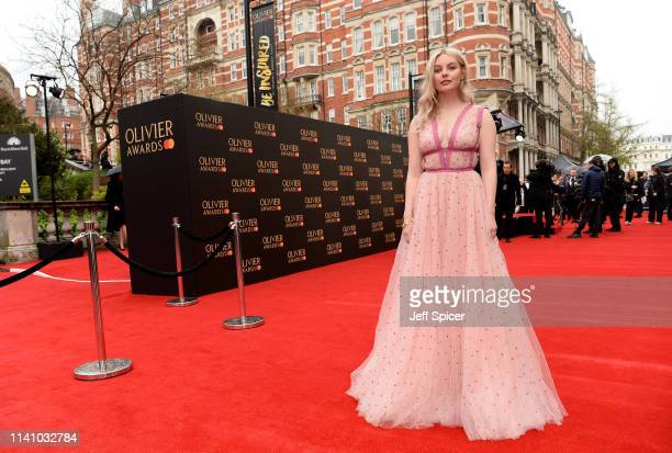 Nell Hudson attends The Olivier Awards with Mastercard at the Royal Albert Hall on April 07 2019 in London England