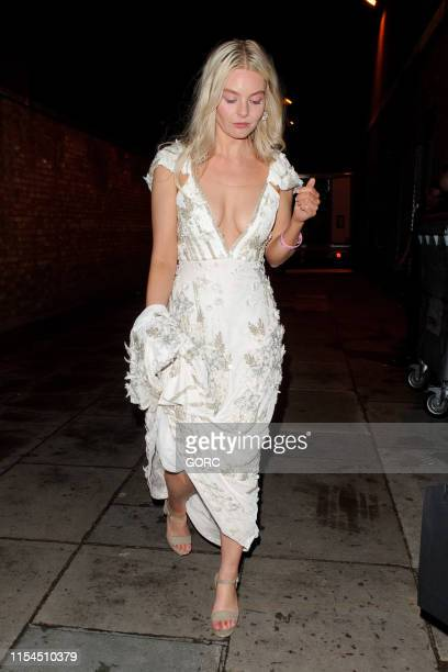 Nell Hudson seen leaving the Boodles Boxing Ball at Old Billingsgate on June 07 2019 in London England