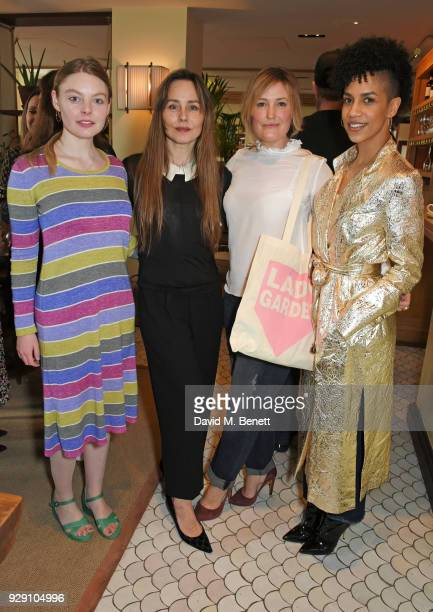 Nell Hudson Tara Fitzgerald Mika Simmons and Dominique Tipper attend an exclusive breakfast to celebrate International Women's Day and support the...