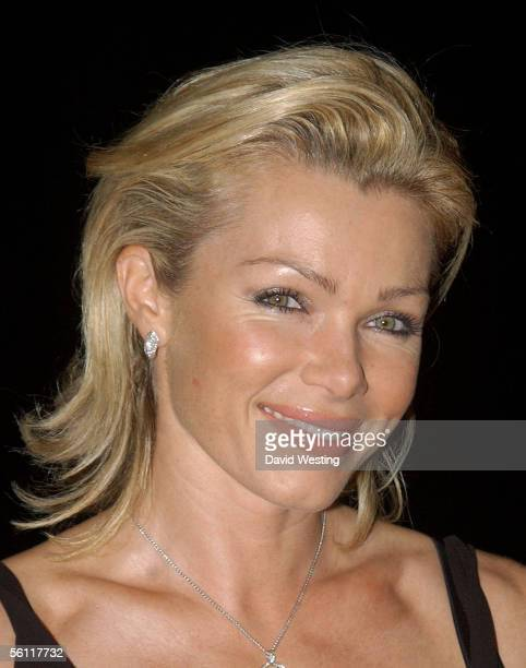 Nell McAndrew arrives at the aftershow party following the UK premiere of In Her Shoes at the Grosvenor House Hotel November 7 2005 in London England