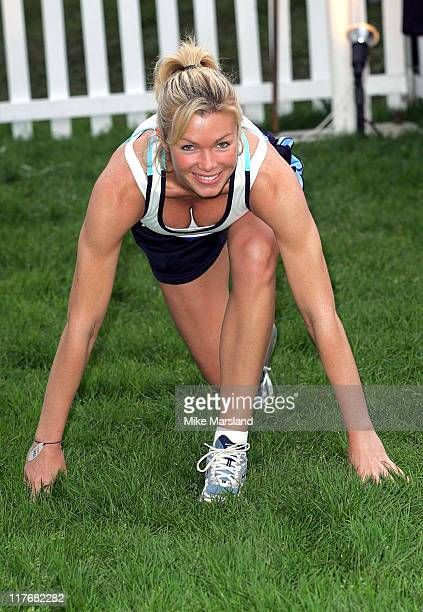 Nell McAndrew during 2004 Race For Life at Battersea Park in London Great Britain