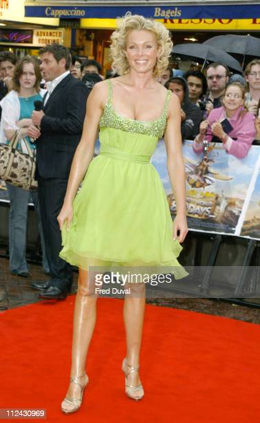 Nell McAndrew during 'Around the World in 80 Days' London Premiere at Vue Cinema in London Great Britain