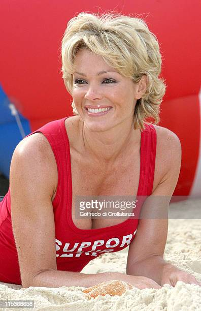 Nell McAndrew during Blue Flag Beaches Photocall at Trafalgar Square in London Great Britain