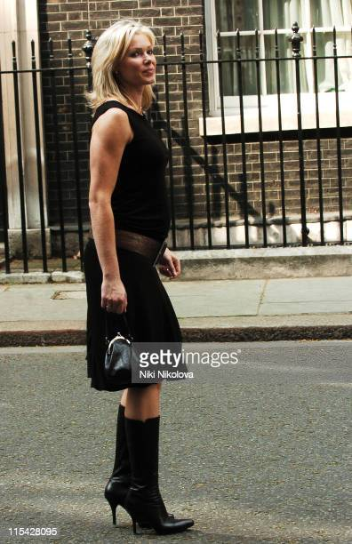 Nell McAndrew during First News Launch Reception Outside Arrivals at 11 Downing Street in London Great Britain