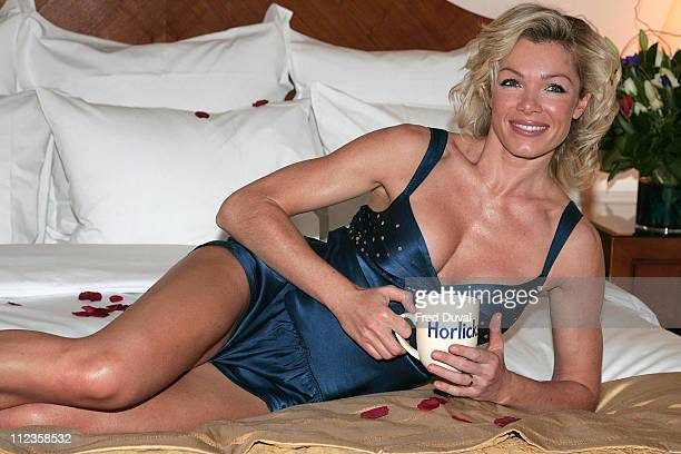 Nell McAndrew during In Bed with Nell McAndrew to Launch 'Horlicks Great Pyjama Auction' at Renaissance Chancery Court Hotel in London United Kingdom