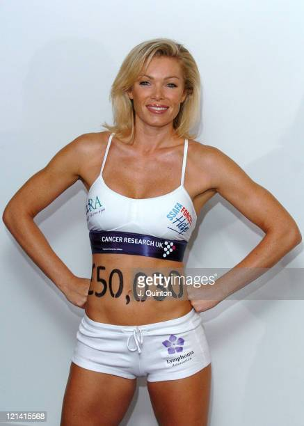 Nell McAndrew during Nell McAndrew Cancer Research UK Photocall at Cancer Research UK Lincoln's Inn Fields in London Great Britain
