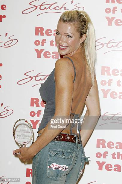 Nell McAndrew during Nell McAndrew Named 2005 Rear of the Year at The Carlton Tower Hotel in London Great Britain