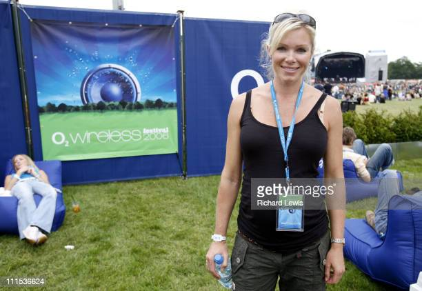 Nell McAndrew during O Wireless Festival 2006 Leeds Day 1 at Harewood House in Leeds Great Britain