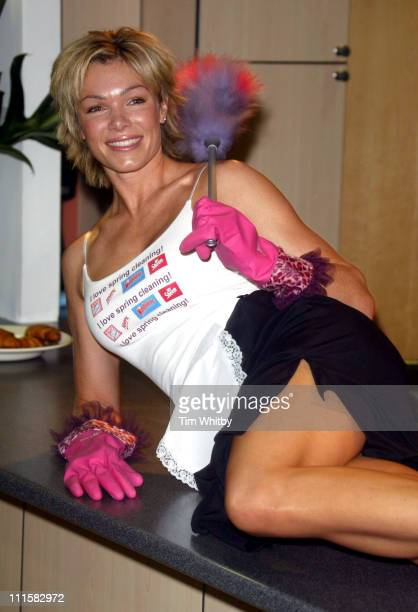 Nell McAndrew during 'Spring Into Action' Spring Clean 2005 Photocall at National Magazine House in London Great Britain