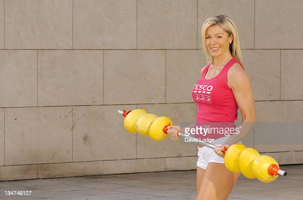 Nell McAndrew during Tesco Personal Trainers Photocall with Nell McAndrew at Tesco 100a West Cromwell Road in London Great Britain