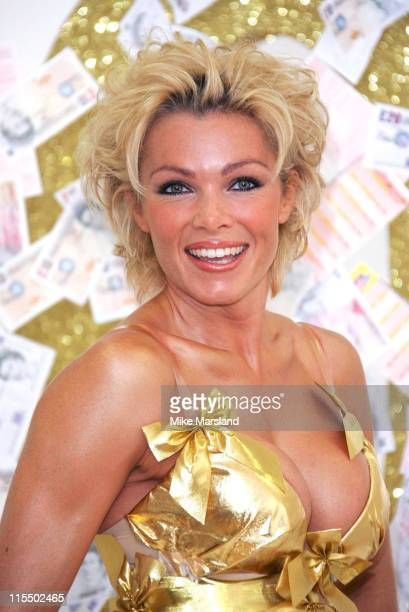 Nell McAndrew during The National Lottery and Nell McAndrew Celebrate a Joint Birthday at Spotlight Studios in London Great Britain