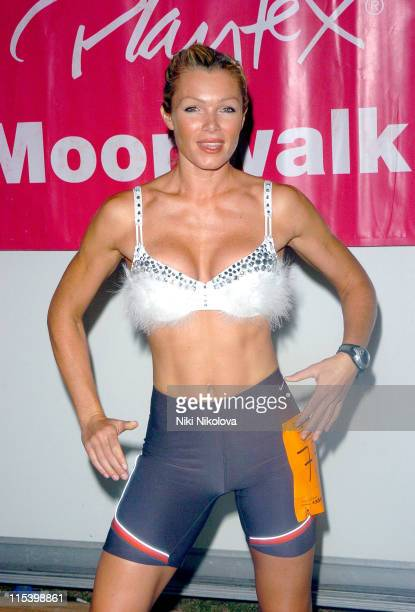 Nell McAndrew during The Playtex Moonwalk at Hyde Park in London Great Britain