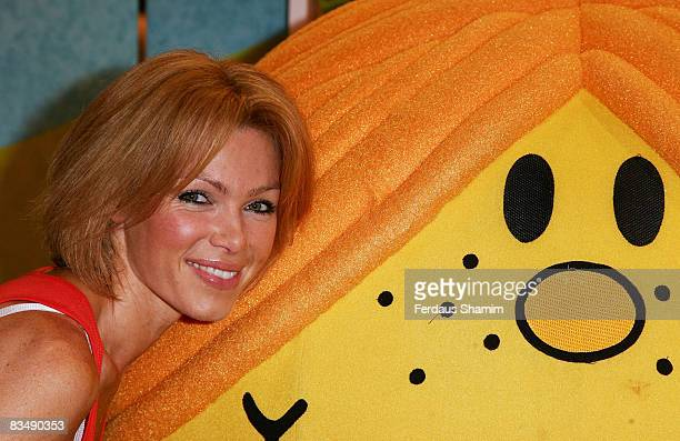 Nell McAndrew launches Mr Men Celebrities Doubles' at Hamleys on October 30 2008 in London England