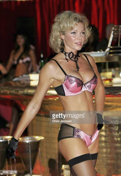 Nell McAndrew models at the Agent Provocateur charity fashion show Serena Rees and Joseph Corre's lingerie catwalk show in aid of Breast Cancer...