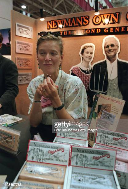 Nell Newman daughter of Paul Newman and JoAnn Woodward was at her booth selling Newman's Own Organic Chocolate