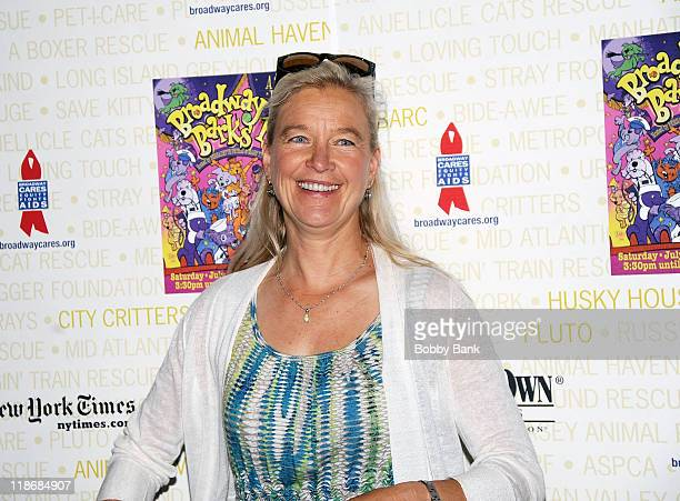 "Nell Newman, founder ""Newman's Own Organics"" attends the 12th annual Broadway Barks! in Shubert Alley on July 9, 2011 in New York City."