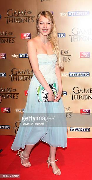 """Nell Tiger Free attends the UK Premiere of """"Game Of Thrones"""" season 5 at the Tower of London on March 18, 2015 in London, England."""