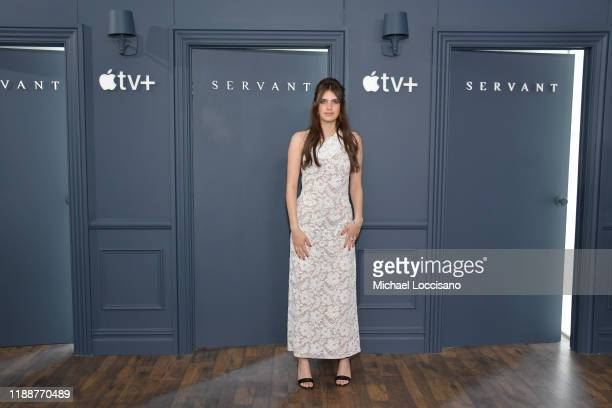 Nell Tiger Free attends the world premiere of Apple TV's Servant at BAM Howard Gilman Opera House on November 19 2019 in the Brooklyn Borough of New...