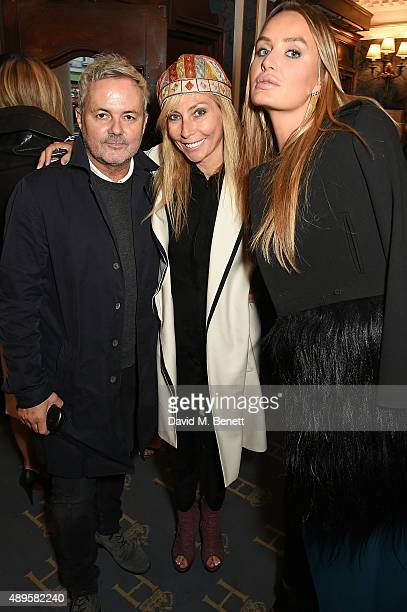 Nellee Hooper Margarita Wennberg and Masha Markova Hanson attend the exclusive viewing of 'McQueen' hosted by Karim Al Fayed for Lonely Rock...