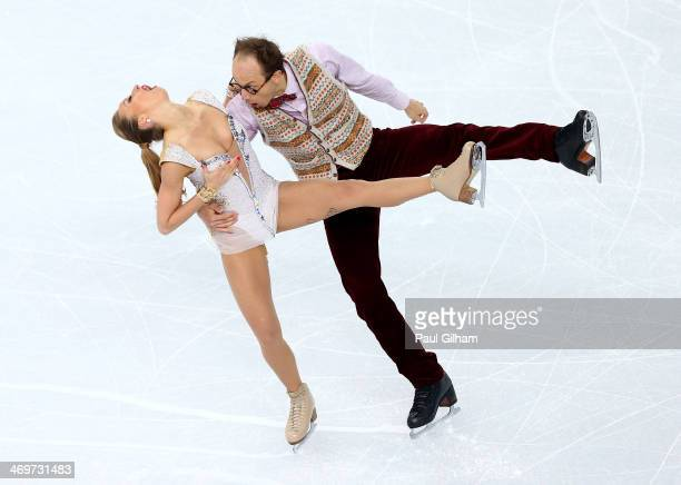 Nelli Zhiganshina and Alexander Gazsi of Germany compete during the Figure Skating Ice Dance Short Dance on day 9 of the Sochi 2014 Winter Olympics...