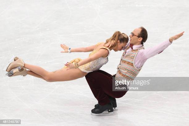 Nelli Zhiganshina and Alexander Gazsi of Germany compete in the Ice Dance Free Dance during ISU World Figure Skating Championships at Saitama Super...