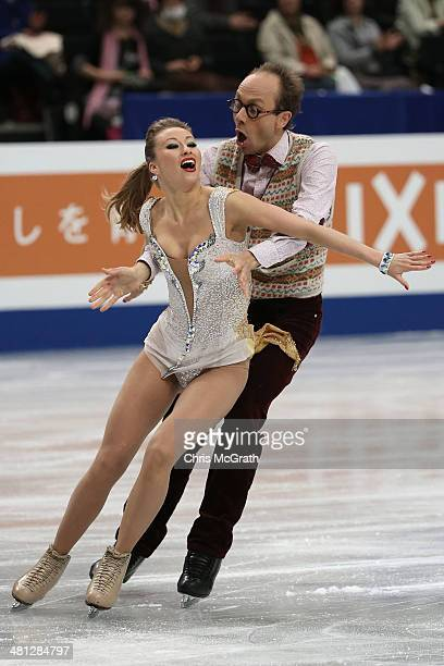 Nelli Zhiganshina and Alexander Gazsi of Germany compete in the Ice Dance Free Dance during ISU World Figure Skating Championships at Saitama Super...
