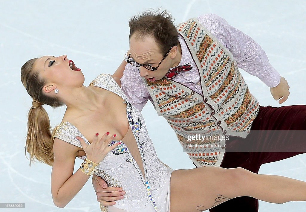Nelli Zhiganshina and Alexander Gazsi of Germany compete in the Figure Skating Team Ice Dance - Short Dance during day one of the Sochi 2014 Winter Olympics at Iceberg Skating Palace on February 8, 2014 in Sochi, Russia.