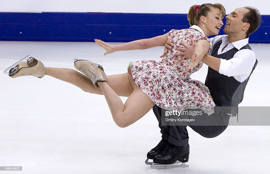 Nelli Zhiganshina and Alexander Gazsi of Germany skate in the Ice Short Dance during ISU Rostelecom Cup of Figure Skating 2012 at the Megasport Sports Center on November 09, 2012 in Moscow, Russia.