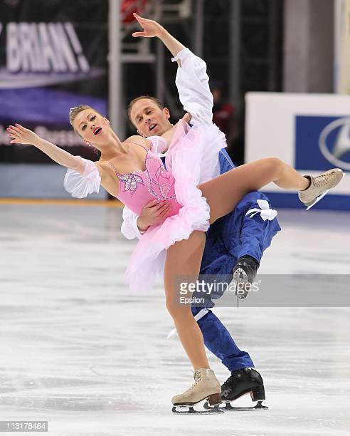Nelli Zhiganshina and Alexander Gazsi of Germany skate in the preliminary round ice dance free dance during day three of the 2011 World Figure...