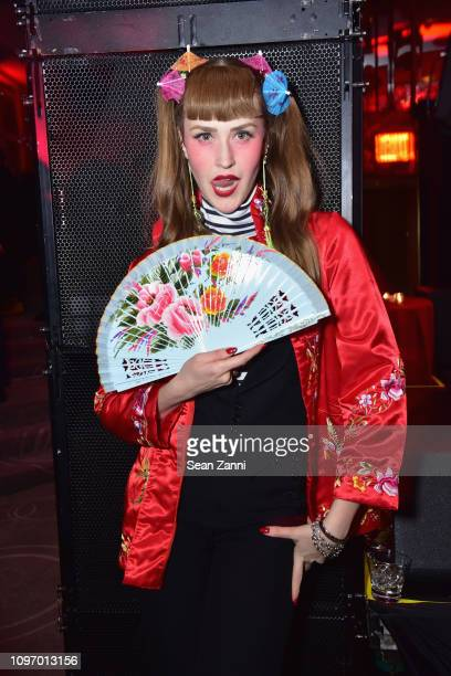 Nellie Blue poses at the Alex Wang's Big Trouble In Little China At The Rainbow Room Powered by Cash App on February 9 2019 at The Rainbow Room in...